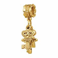 Prerogatives Sterling Silver Three Keys Dangle Bead