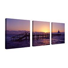 Preston 'Seascape' Canvas Art - Set of 3 Panels