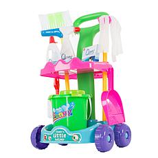 Pretend Play Cleaning Set with Caddy on Wheels by Hey! Play