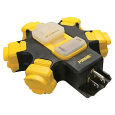 Prime 5-Outlet Power Hub with 2-Port 3.4-Amp USB Charger