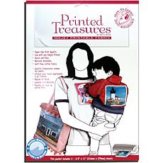 Printed Treasures Printer Fabric Sheets Iron-On - 8-1/2X11 White 3/Pkg