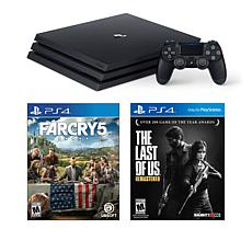 """PS4 Pro 1TB Console with """"Far Cry 5"""", """"The Last of Us"""" and Accessories"""