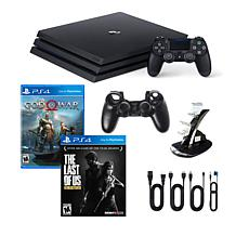 "PS4 Pro 1TB Console with ""God of War"", ""The Last of Us"" & Accessories"