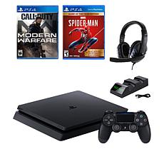 PS4 Slim 1TB Console w/Call of Duty Game & Accessories