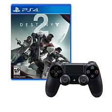 PS4 Wireless DualShock 4 Controller with Destiny 2 Game