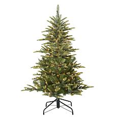 Puleo 4-1/2 ft. Pre-Lit Arctic Fir Artificial Christmas Tree