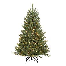 Puleo 4.5' Franklin Fir Artificial Christmas Tree w/250 Clear Lights