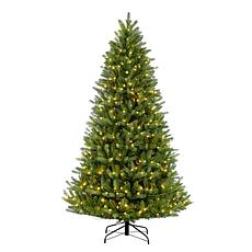 Puleo 6-1/2 ft. Pre-Lit Green Mountain Fir Artificial Christmas Tree