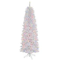 Puleo International 4.5' 150-Light Artificial Fir Christmas Tree White
