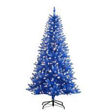 Puleo International 6.5' 300-Light Artificial Christmas Tree, Blue