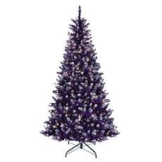 Puleo International 6.5' Lit Fashion Purple Artificial Christmas Tree