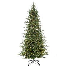 Puleo International 9' Pre-Lit Slim Balsam Fir  Christmas Tree