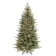 Puleo International Pre-Lit 6.5' Artificial Spruce Tree, Blue/Green