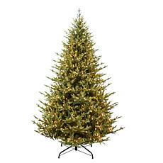 Puleo Intl. Pre-Lit 7.5' Addison Fir Artificial Christmas Tree, Green