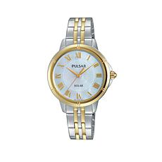 Pulsar Ladies Solar 2-Tone Stainless Steel Bracelet Watch