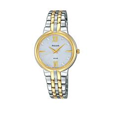 Pulsar Ladies Solar Stainless Steel Bracelet Watch