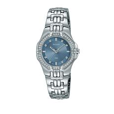 Pulsar Ladies Stainless Steel Crystal Bezel Bracelet Watch