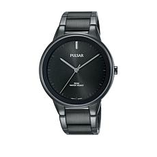 Pulsar Men's Black Stainless Steel Bracelet Watch