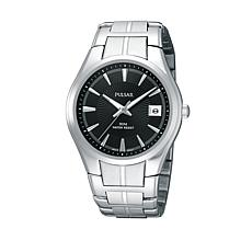 Pulsar Men's Silvertone Black Dial Bracelet Watch