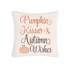 Pumpkin Kisses & Wishes Pillow