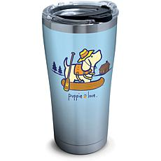 Puppie Love Canoe 20 oz Stainless Steel Tumbler with lid