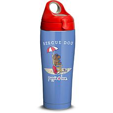 Puppie Love Rescue Dog 24 oz Stainless Steel Water Bottle with lid