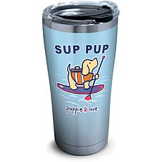 Puppie Love Sup Pup 20 oz Stainless Steel Tumbler with lid