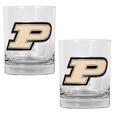 Purdue Boilermakers 2pc Rocks Glass Set