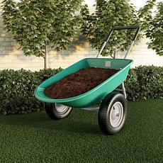 Pure Garden 2-Wheeled Wheelbarrow Large Capacity Dump Cart