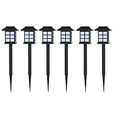 Pure Garden Set of 6 Lantern Solar Landscaping Lights