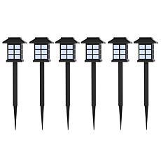 Pure Garden Set of 6 Lantern Solar Landscaping Lights