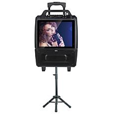 "QFX 2 x 5"" Portable Karaoke Speaker System with 14"" Screen"