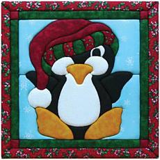 "Quilt Magic No Sew Wall Hanging Kit - 12"" x 12"" Penguin"