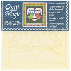 Quilt Magic No-Sew Wall Hanging Kit - Love Owls