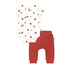 Rabbit + Bear Organic Cotton Boys Bodysuit & Solid Pant 2pc Set