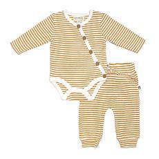 Rabbit + Bear Organic Cotton Girls Print Bodysuit and Pant 2-piece Set