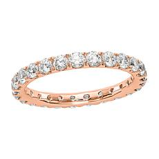 Radiant Fire 14K Gold 1.50ctw Lab-Grown Diamond Round Eternity Band