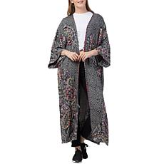 Raj Millie Thickstitch Embroidered Duster