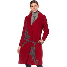 Rara Avis by Iris Apfel Animal Embroidered Coat
