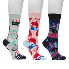 Rara Avis by Iris Apfel Around the World Crew Sock Set