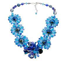 Rara Avis by Iris Apfel Beaded Flower Station Necklace