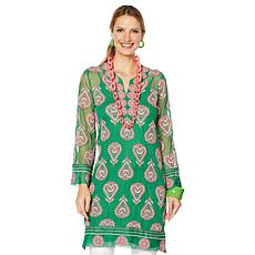 Rara Avis by Iris Apfel Embroidered Mesh Tunic