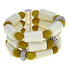 Rara Avis by Iris Apfel Green and White Bracelet