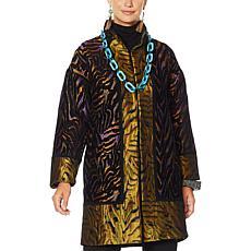 Rara Avis by Iris Apfel Jacquard Coat with Pockets