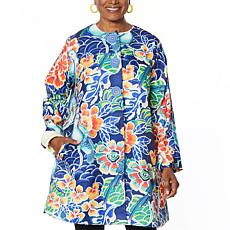 Rara Avis by Iris Apfel Tropical Print Twill Jacket