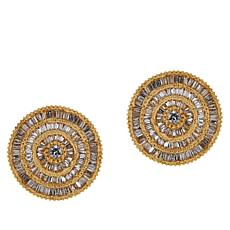 Rarities 0.60ctw Gold-Plated Diamond Circle Stud Earrings