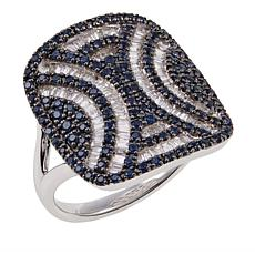 Rarities 1.22ctw Diamond and Blue Sapphire Tattoo Ring
