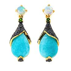 Rarities Amazonite Multigem Gold-Plated Sterling Silver Drop Earrings
