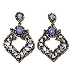 Rarities Black Rhodium Diamond Multigem Drop Earrings