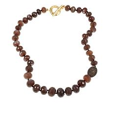 "Rarities Caramel Moonstone and Smoky Quartz 19-1/2"" Bead Necklace"